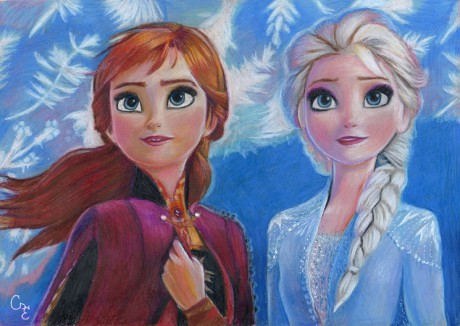 Anna and Elsa from Disney Frozen 2