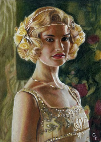 Lily James Lady Rose MacClare Downton Abbey series